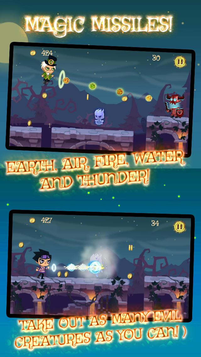 Wizard Run - Endless Magic Castle Adventure for Halloween screenshot three
