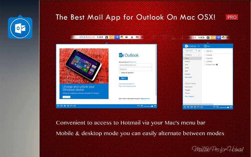 Hotmail desktop app