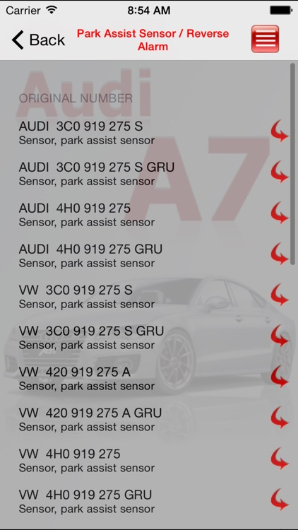 AutoParts Audi A7 screenshot-1