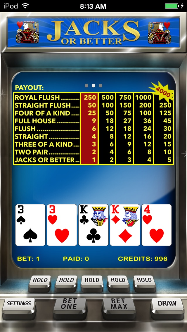 Video Poker review screenshots