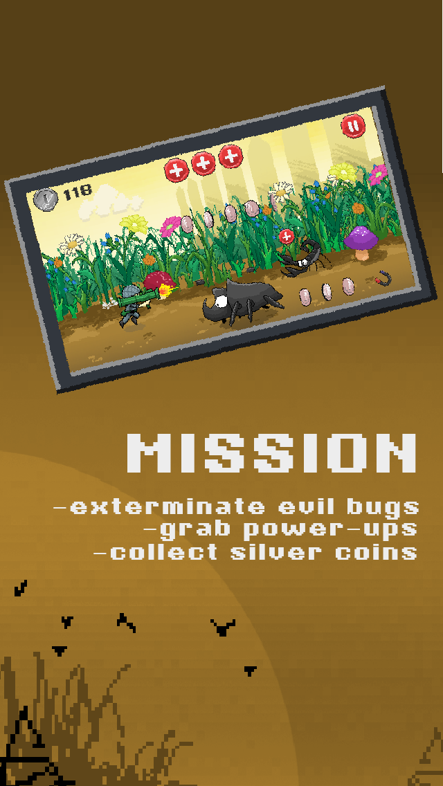 Army Mini Pixel Commando Brigade: Bug Killer Soldier