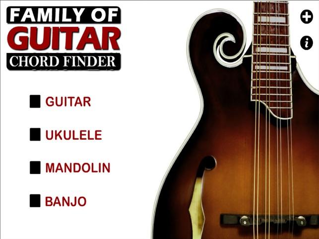 Guitar Family Chord Finder With Notes Guitar Ukulele Mandolin