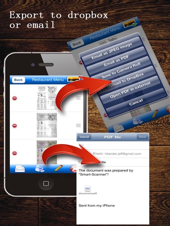 JJScan HD:  scan documents to PDF