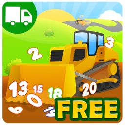 Trucks and Things That Go Counting Numbers Free - Preschool and Kindergarten Educational Learning Shape Puzzle Adventure Game with Toys Train for Toddler Kids Explorers