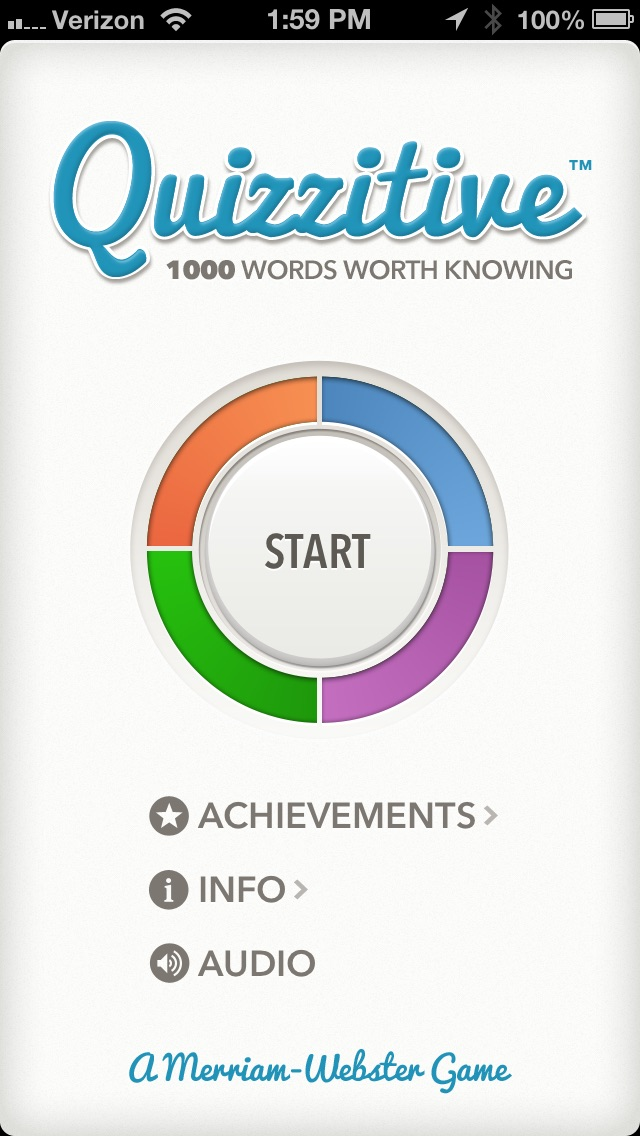 Quizzitive – A Merriam-Webster Word Game Screenshot