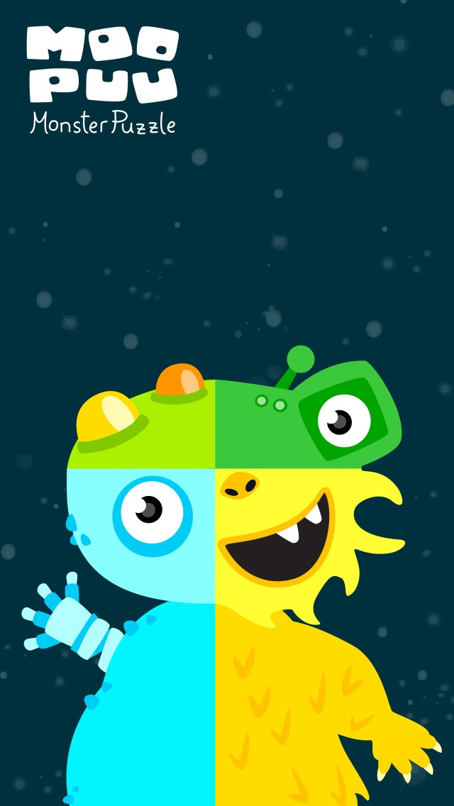 MooPuu FREE - The Animated Monster Puzzle screenshot one