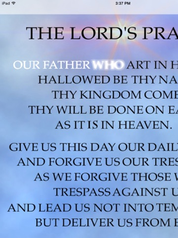 The Lords Prayer Anointed-ipad-1