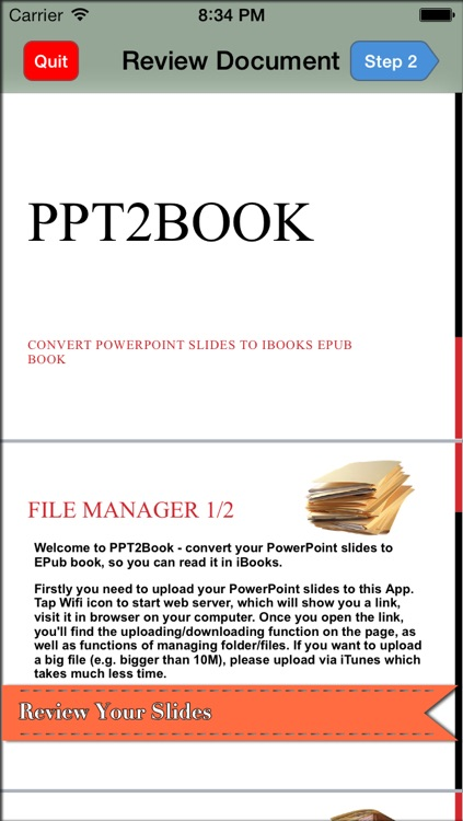PPT2Book - Convert slides (ppt & pptx, PowerPoint document) to iBook epub book