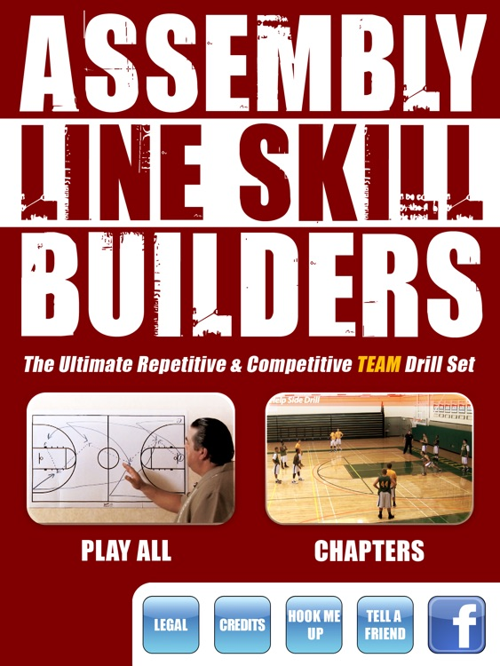 Assembly Line Skill Builders: Team Drills & Skills - With Coach Jamie Angeli - Full Court Basketball Training Instruction - XL