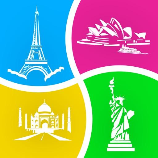 4 фото 1 место (4 Pics 1 Place) - игра в догадки с фотографиями Путешествовал / World Travel Picture Quiz and Trivia Game