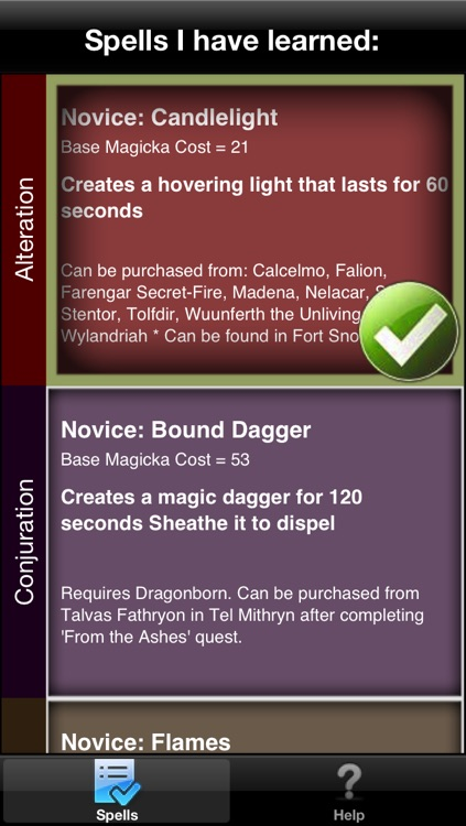 Spells in Skyrim ®