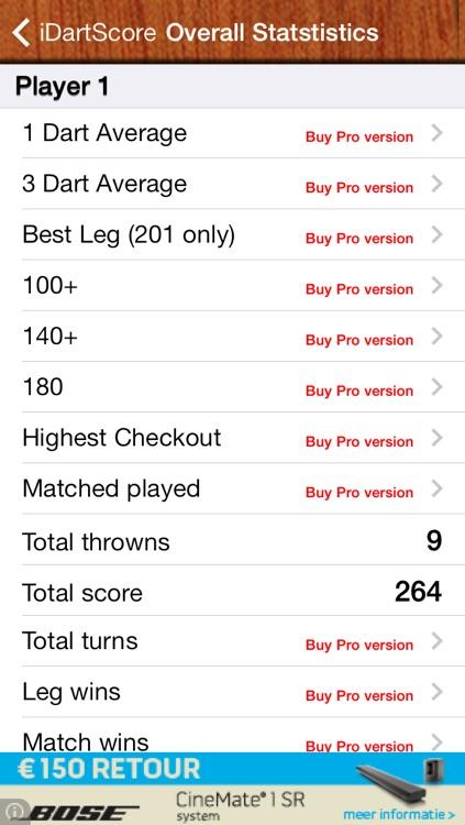 iDartScore FREE screenshot-3