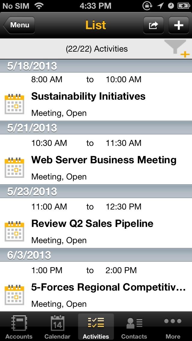 SAP Sales Managerのスクリーンショット4