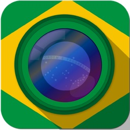 Cheer World Football Soccer Booth Sticker - 2014 Brazil Edition Awesome Stickiness Camera