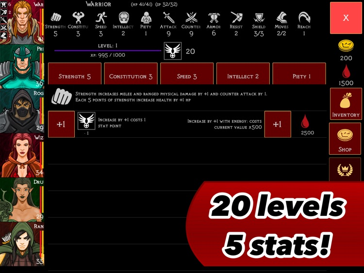 Heroes of Blood Magic : a Tactical RPG for iPad screenshot-3