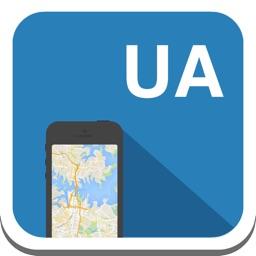 Ukraine (Krim & Kiev) offline map, guide, weather, hotels. Free GPS navigation.