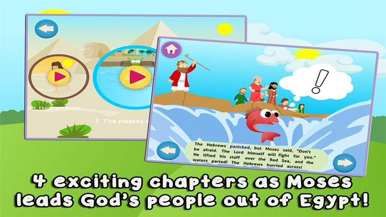 Moses and the Parting of the Red Sea: Bible Heroes - Teach Your Children with Stories, Songs, Puzzles and Coloring Games! screenshot-3
