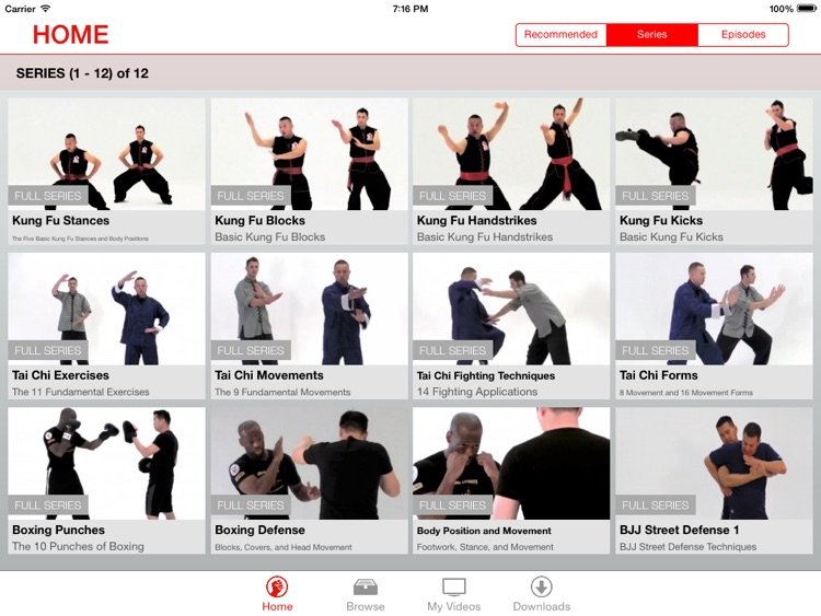 Martial Arts College: Video Lessons for iPad screenshot-1