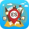 西班牙 离线旅游指南和地图。城市观光 巴塞罗那,马德里,马略卡岛,特内里费岛