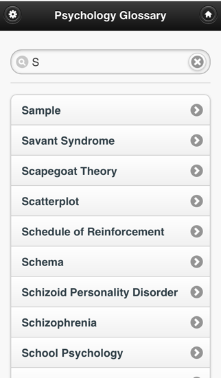Psychology Glossary screenshot three