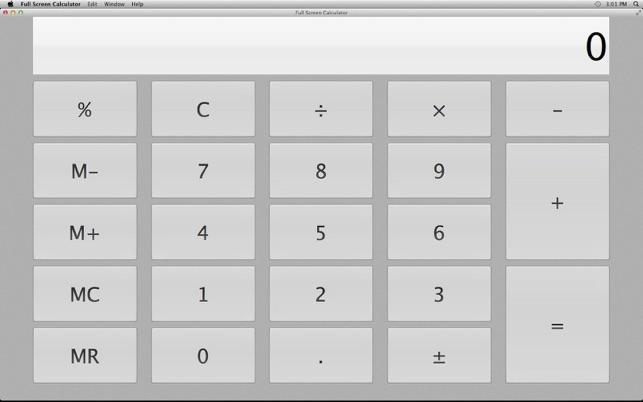 Calculatrice plein cran dans le mac app store for Plein ecran photo mac