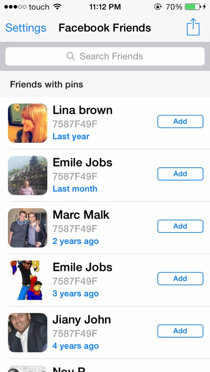 PIN Directory For BBM