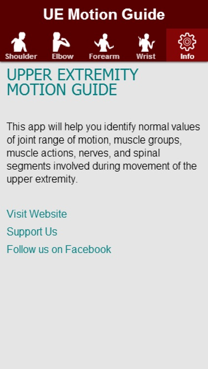 Upper Extremity Motion Guide