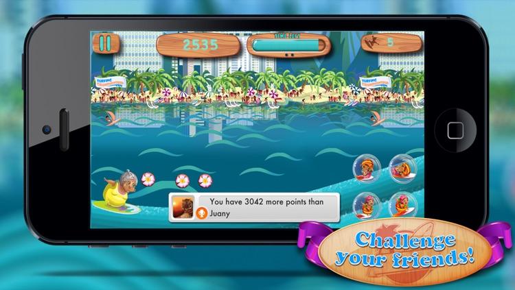 Granny Surfer - Crazy Big Wave Tropical Surfing Mania screenshot-3