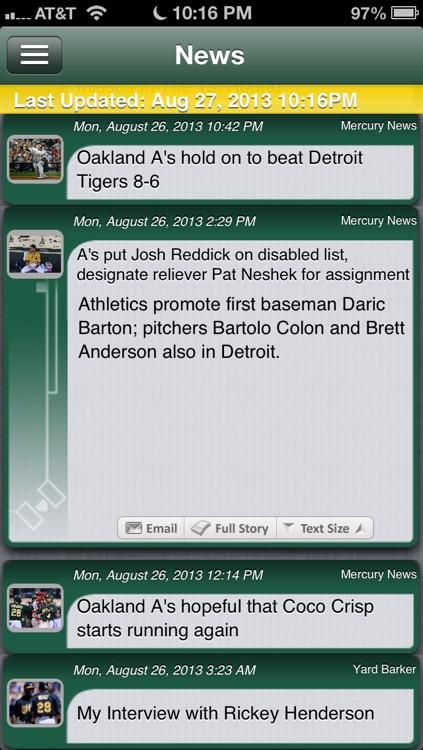 Oakland Baseball Live screenshot-3