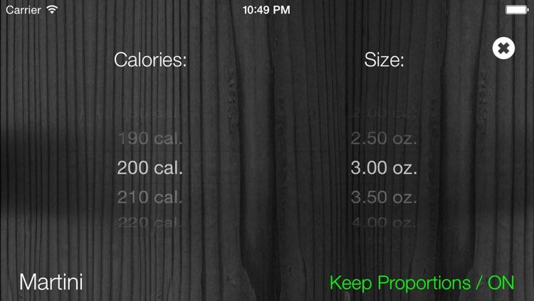 Drinkalories: Calculating cocktail calories screenshot-4