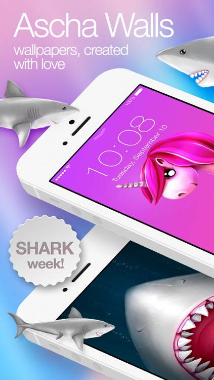 Ascha Walls - artist wallpapers created with love: Shark week and other cute backgrounds.