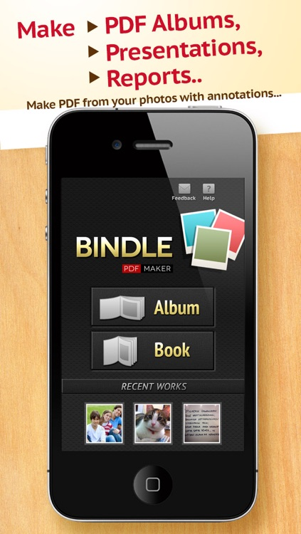 Bindle - PDF Maker from Photos, Images, Pictures