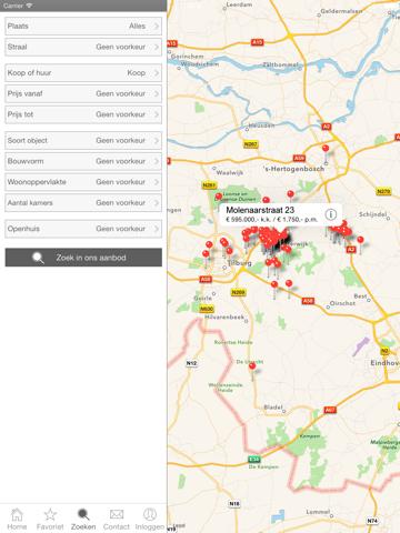 Screenshot of RET Makelaars