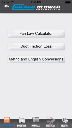 Chicago Blower Fan Engineering Calculator on the App Store