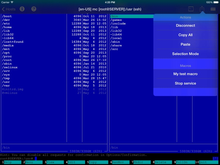 vSSH HD Lite screenshot-2