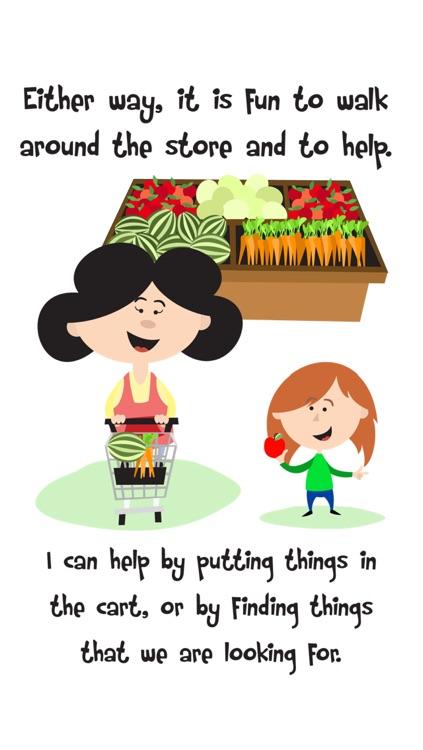 Going Shopping Social Story About Good Store Behavior For Children screenshot-3