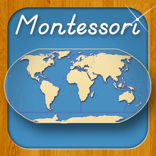 世界の海と大陸-モンテソーリ式地理