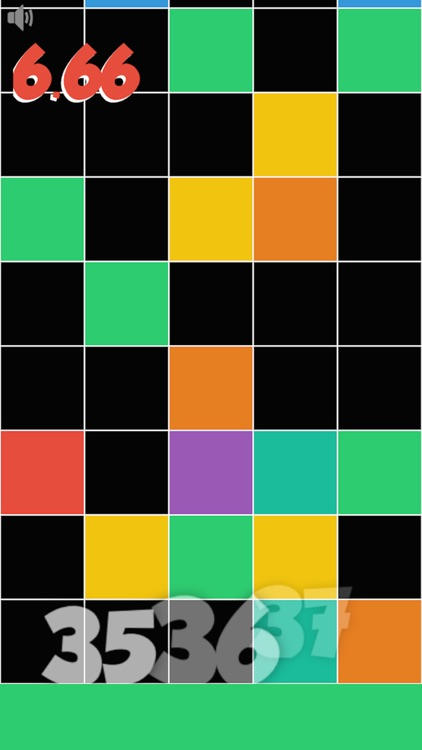 Don't tap any black tile! Touch the lowest colored tile only! Reach the target as soon as possible.