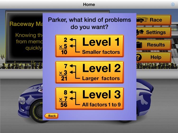 RE@L Raceway Math: Multiplication Facts