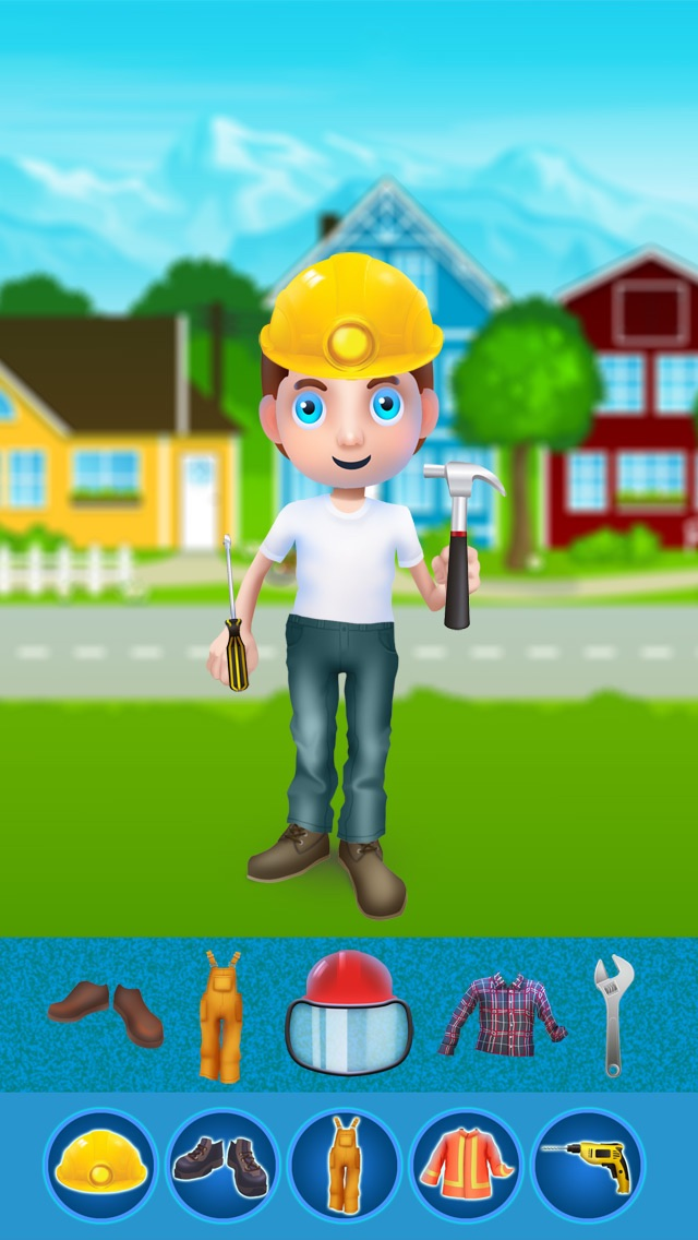 Dress Up Builder Bill - Fun Kids Game-4