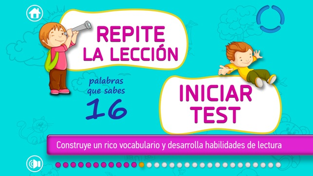 MIS PALABRAS: Spanish Vocabulary and Reading Game for kids. Learn and have fun with Kiddy Words! Screenshot