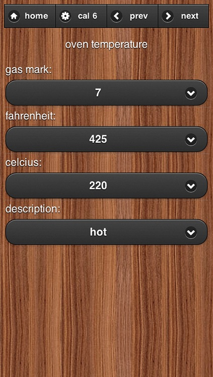 Cooking Converter Quick and easy convert ingredient weights, volumes, and temperatures. screenshot-3