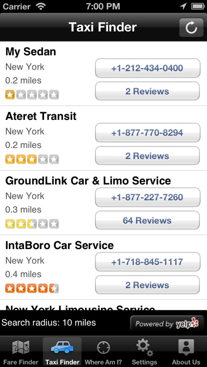 Taxi Finder by TaxiFareFinder.com