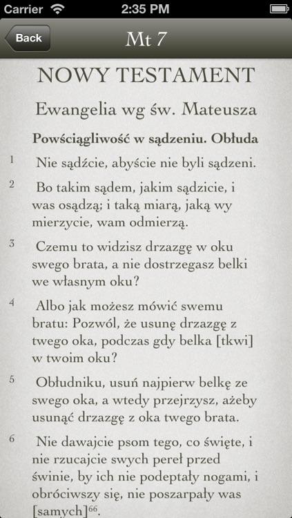 Biblia Tysiąclecia - Pismo Święte Starego i Nowego Testamentu screenshot-3