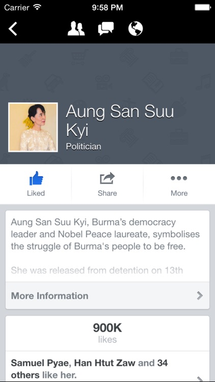 LikeBook - for Facebook with Myanmar Keyboard