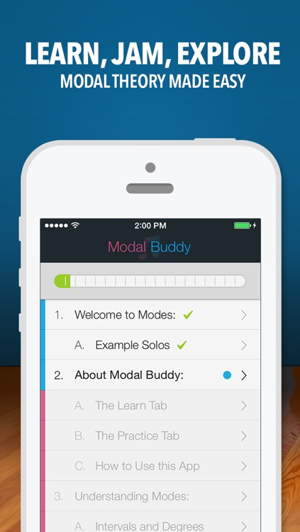 Modal Buddy - Guitar Jam Tool, Scales & Modes Theory Trainer