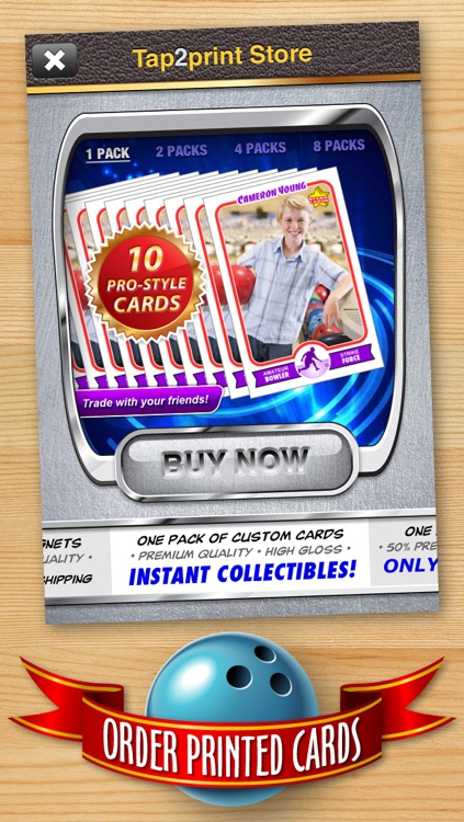 Bowling Card Maker - Make Your Own Custom Bowling Cards with Starr Cards screenshot-4