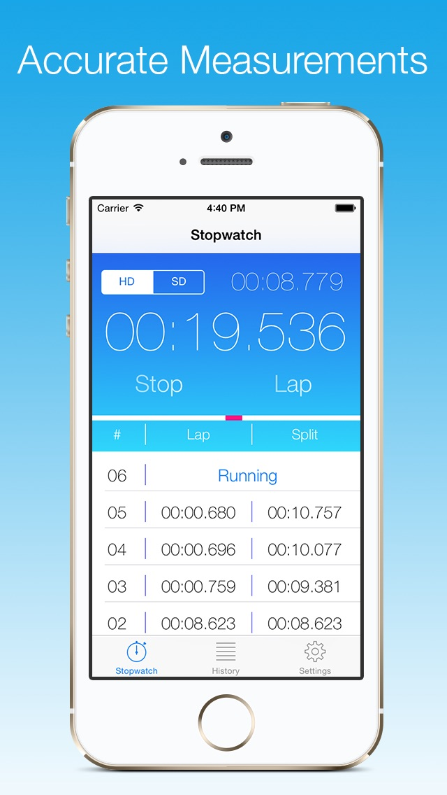 Stopwatch - ミリ秒単位の正確さ... screenshot1