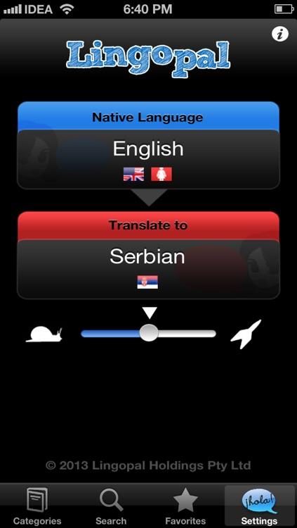Lingopal Serbian LITE - talking phrasebook