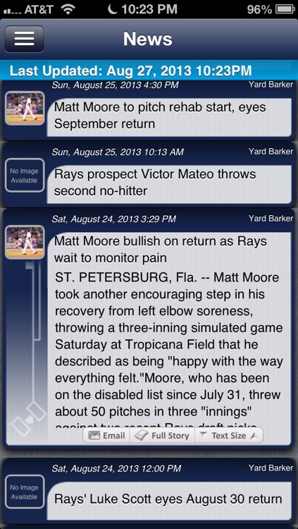 Tampa Bay Baseball Live screenshot-3